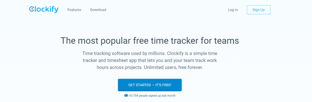 Clockify: Time tracking software and tool