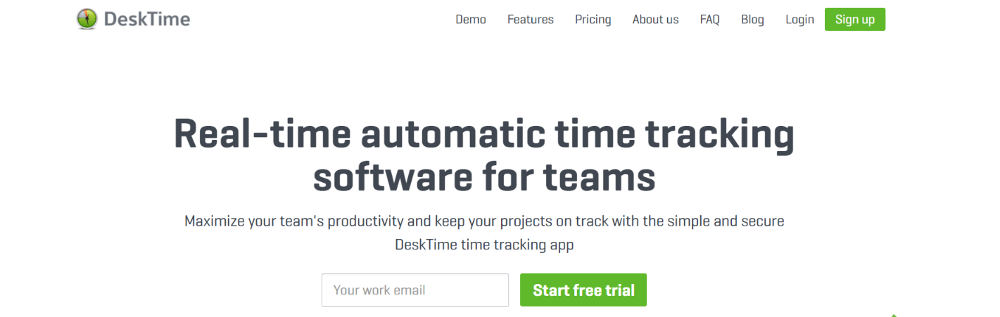 Desktime: Time tracking software and tool