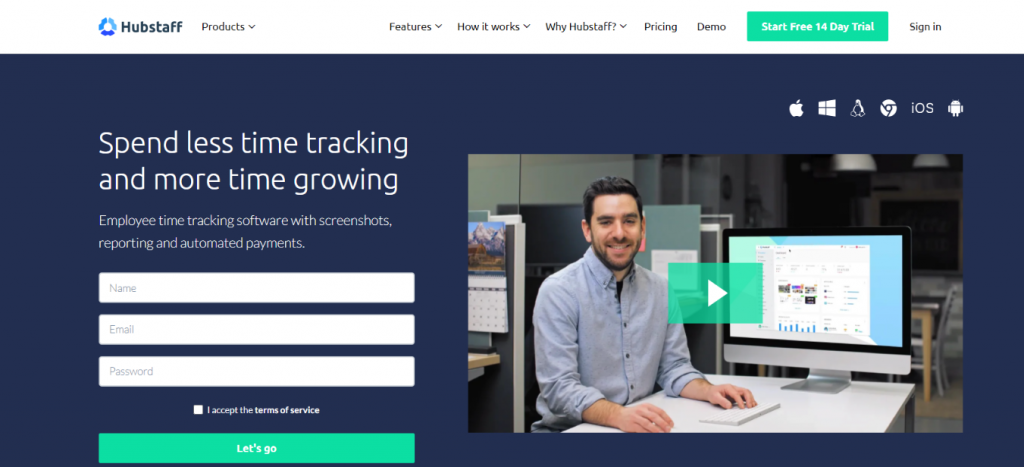 Hubstaff: Time tracking software and tool