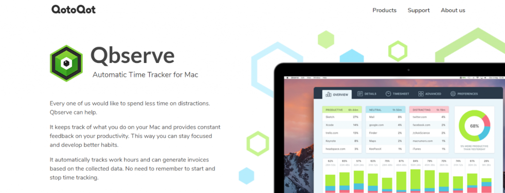 Qbserve: Time tracking software and tool