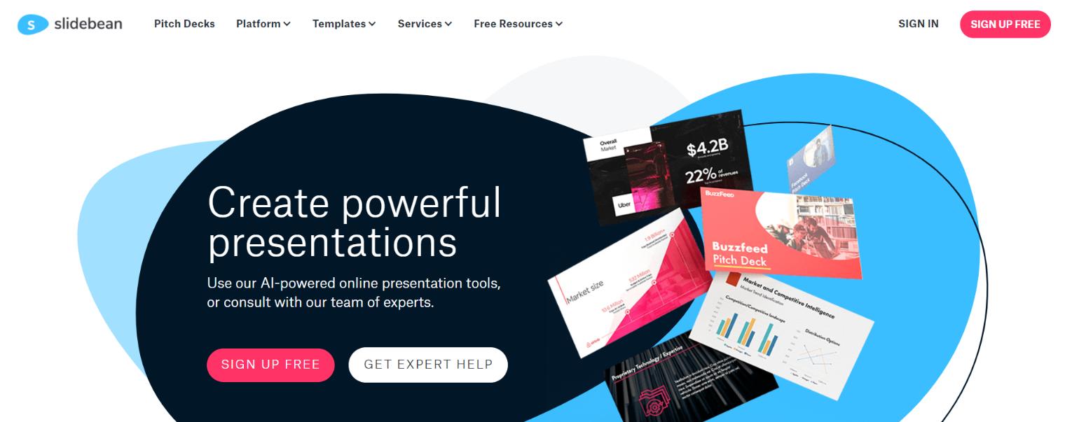 Slidebean: Presentation tool