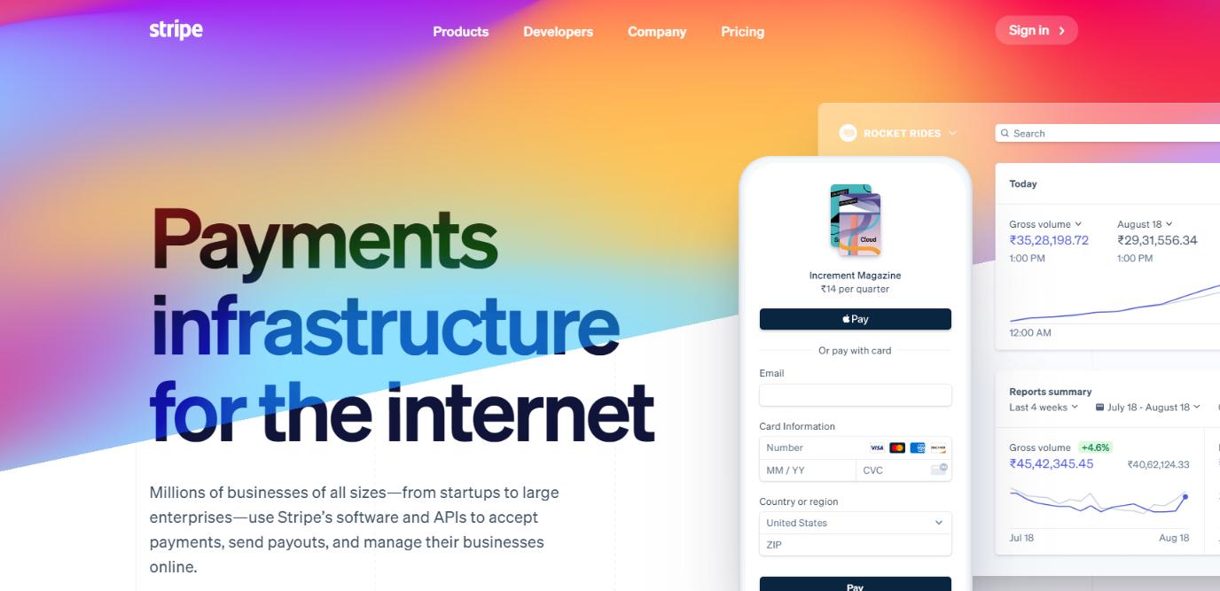 Stripe: Online Subscription Billing Software Platform