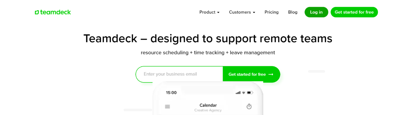 Teamdeck: Resource management tools and software