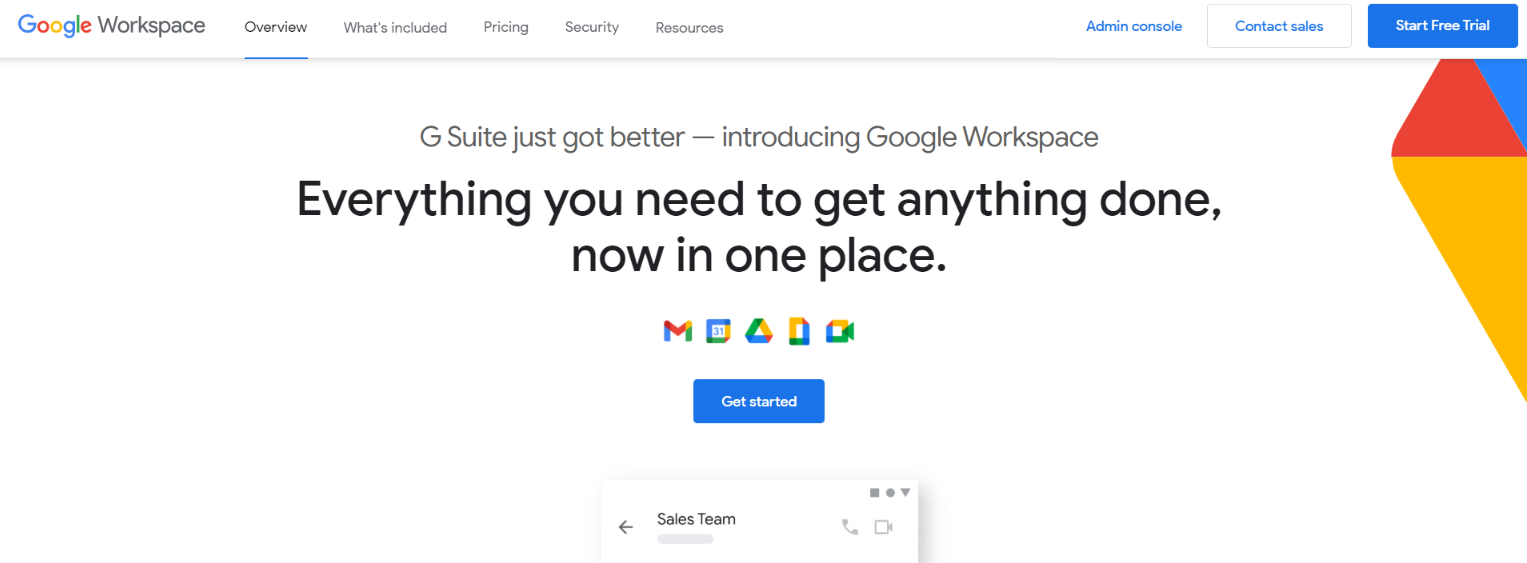 Google G suite: Airtable alternative and competitor