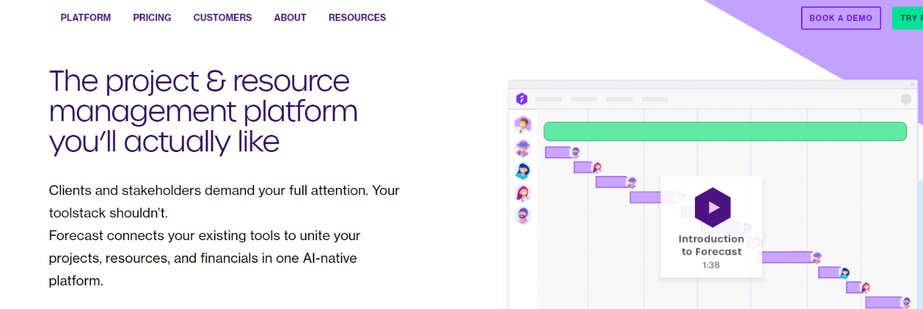 Forecast: Resource management tools and software