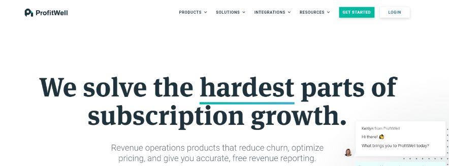 Profitwell: Online Subscription Billing Software Platform