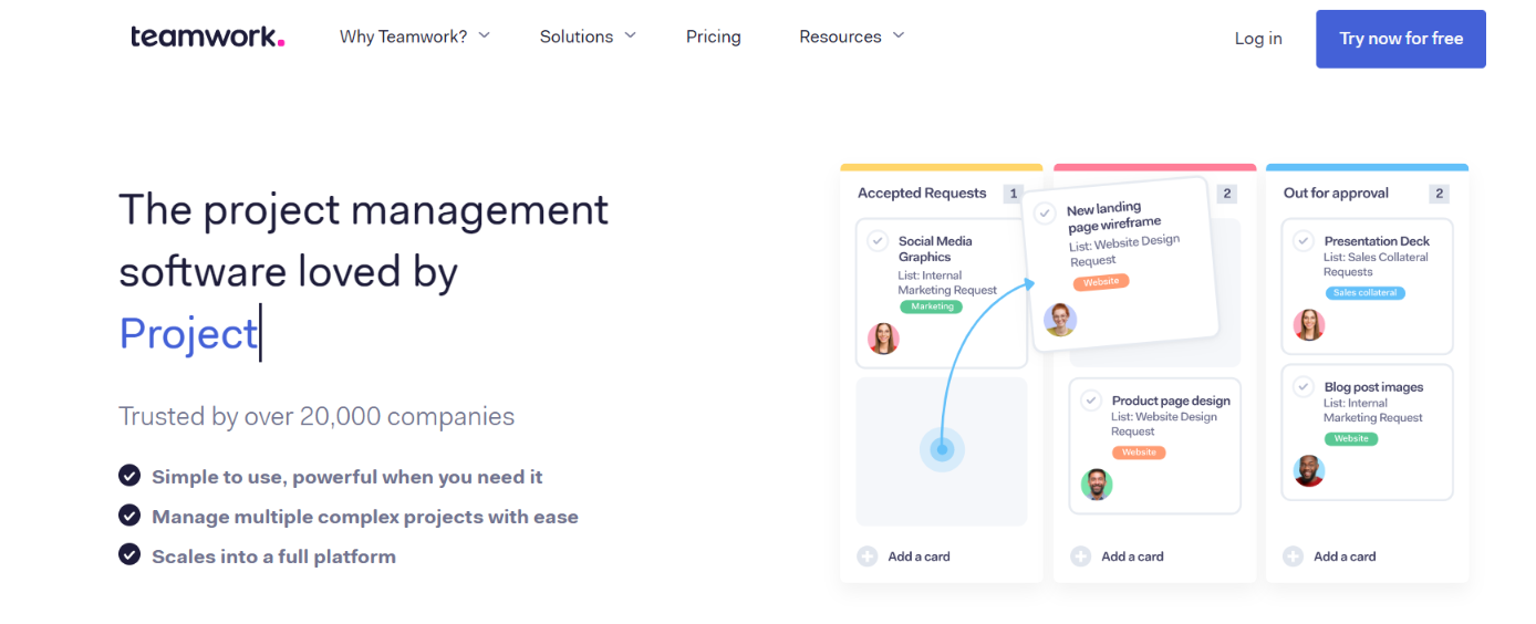 Teamwork projects: Airtable alternative and competitor