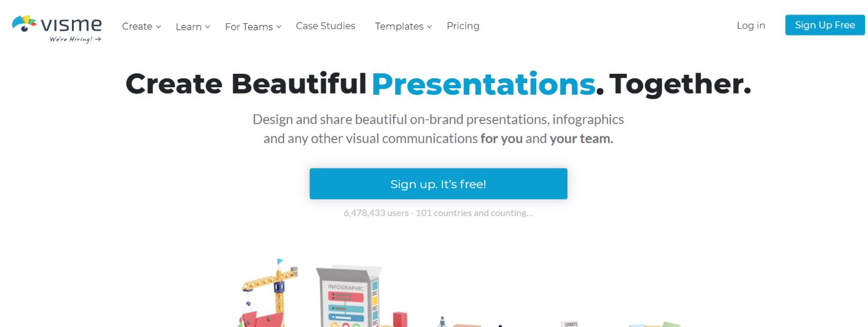 Visme: Presentation tool