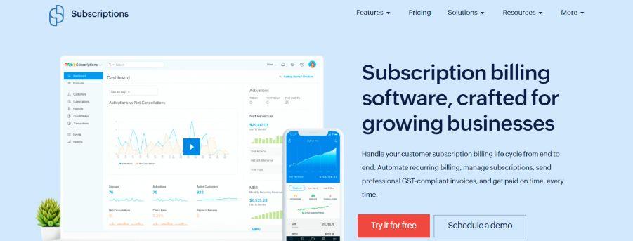Zoho Subscriptions: Online Subscription Billing Software Platform