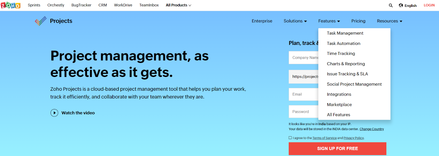 Zoho projects: Airtable alternative and competitor
