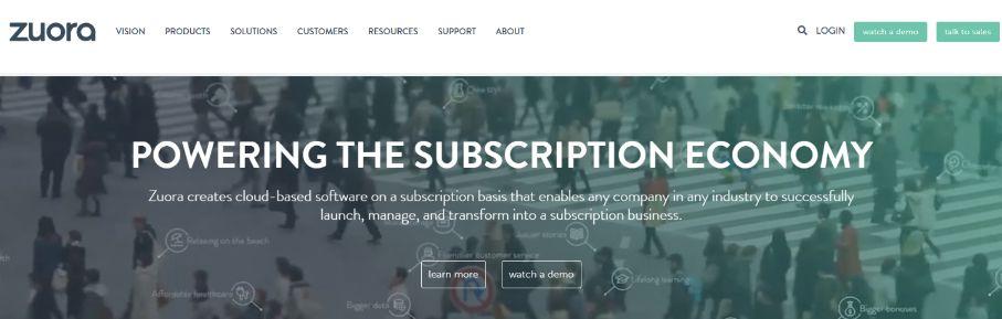 Zuora: Online Subscription Billing Software Platform