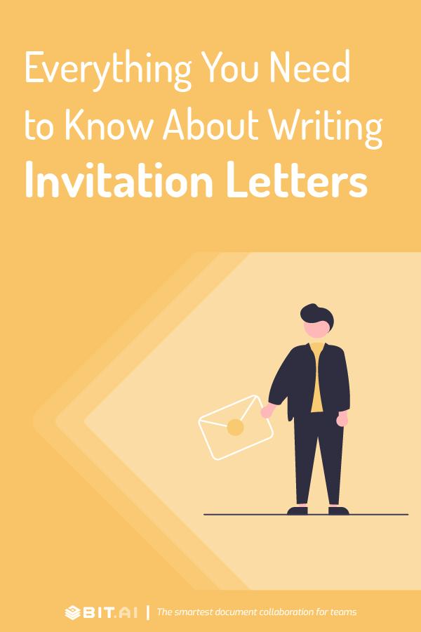 Invitation letters - pinterest