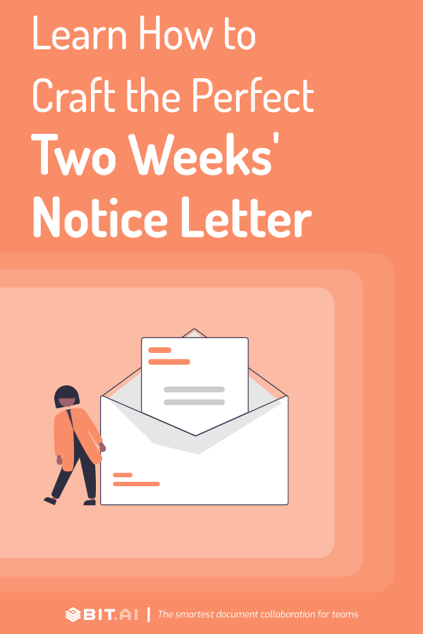 Two weeks notice letter - pinterest