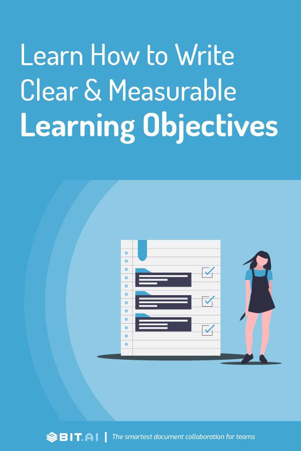 Learning objectives - pinterest