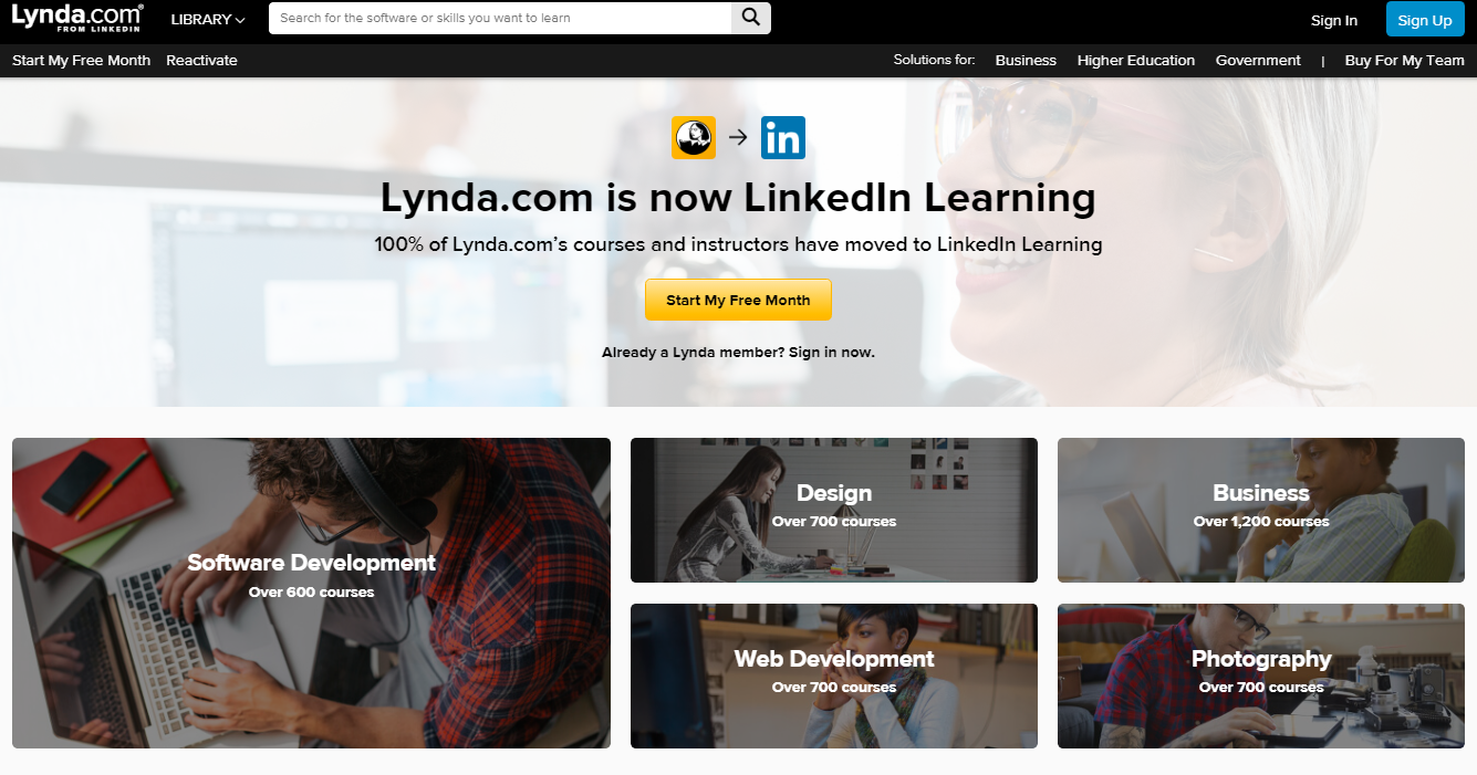 Lynda: Programming blog and website