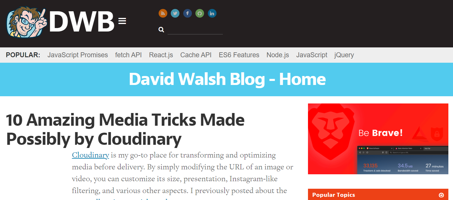 David walsh blog: Programming blog and website