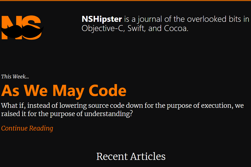 Nhipster: Programming blog and website