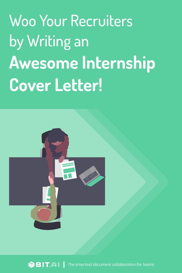 Internship cover letter - Pinterest