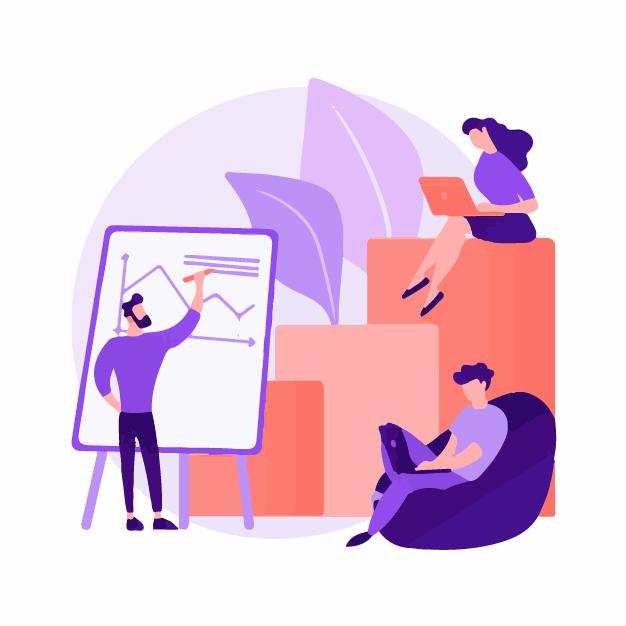 Sales team creating a sales report