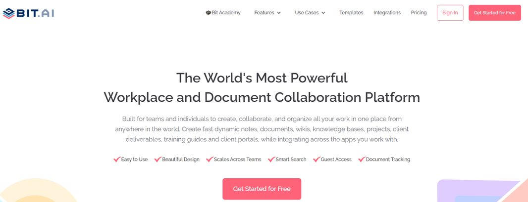Bit.ai: Tool for creating growth plans
