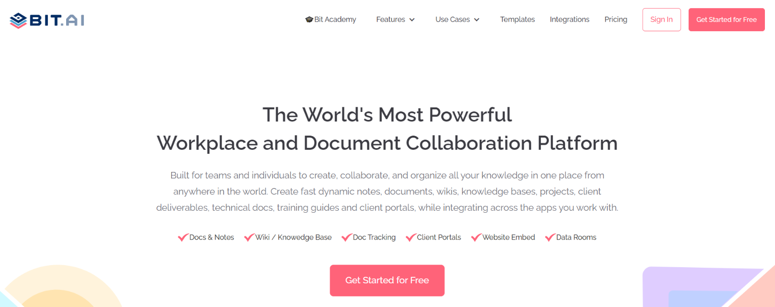 Bit.ai: Document collaboration tool for employees