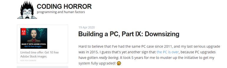 Coding Horror: Programming blog and website