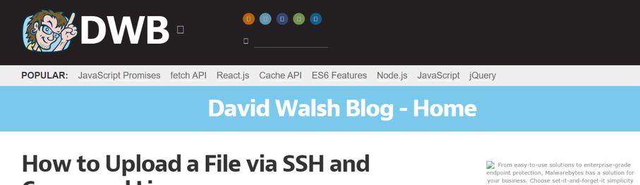 David Walsh Blog: Programming blog and website