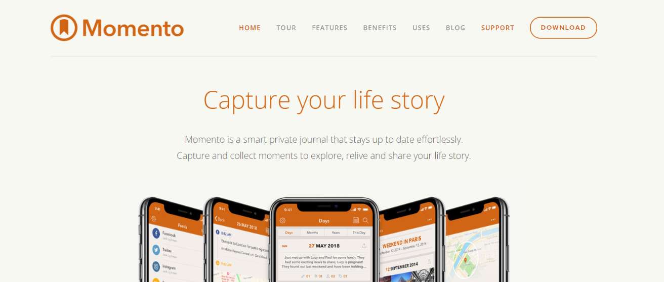 Momento: Journal and Diary App