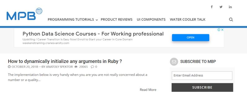 My Programming Blog: Programming blog and website