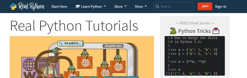 Real Python: Programming blog and website