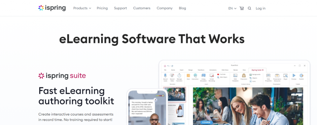 Ispring learn: Employee training software