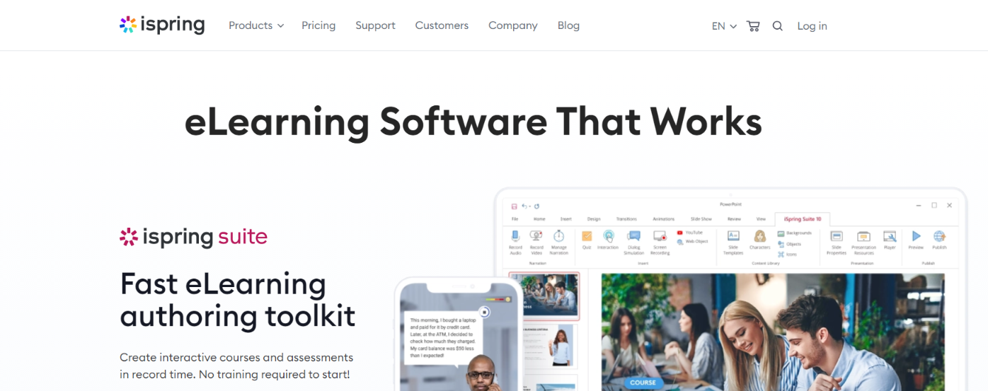 Ispring learn: Employee training software