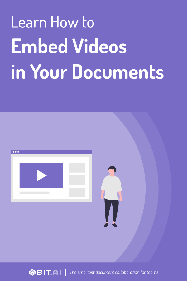 Embed videos to documents - pinterest