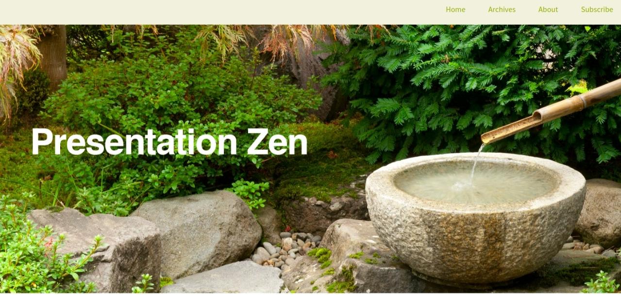 Presentation zen: Presentation blog and website