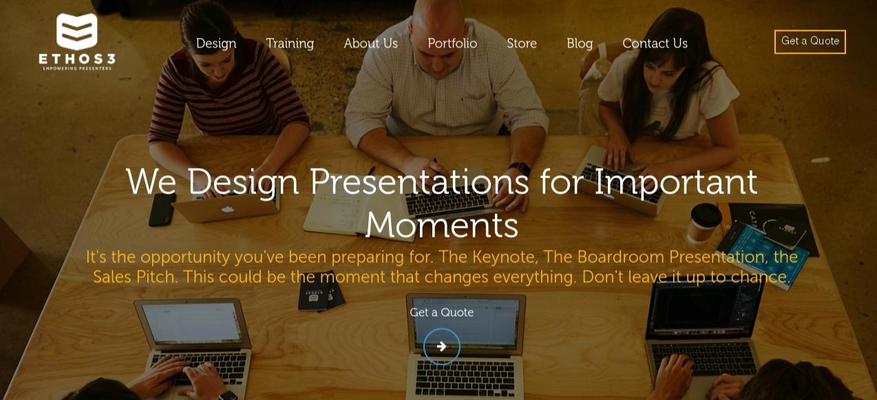 Ethos3: Presentation blog and website