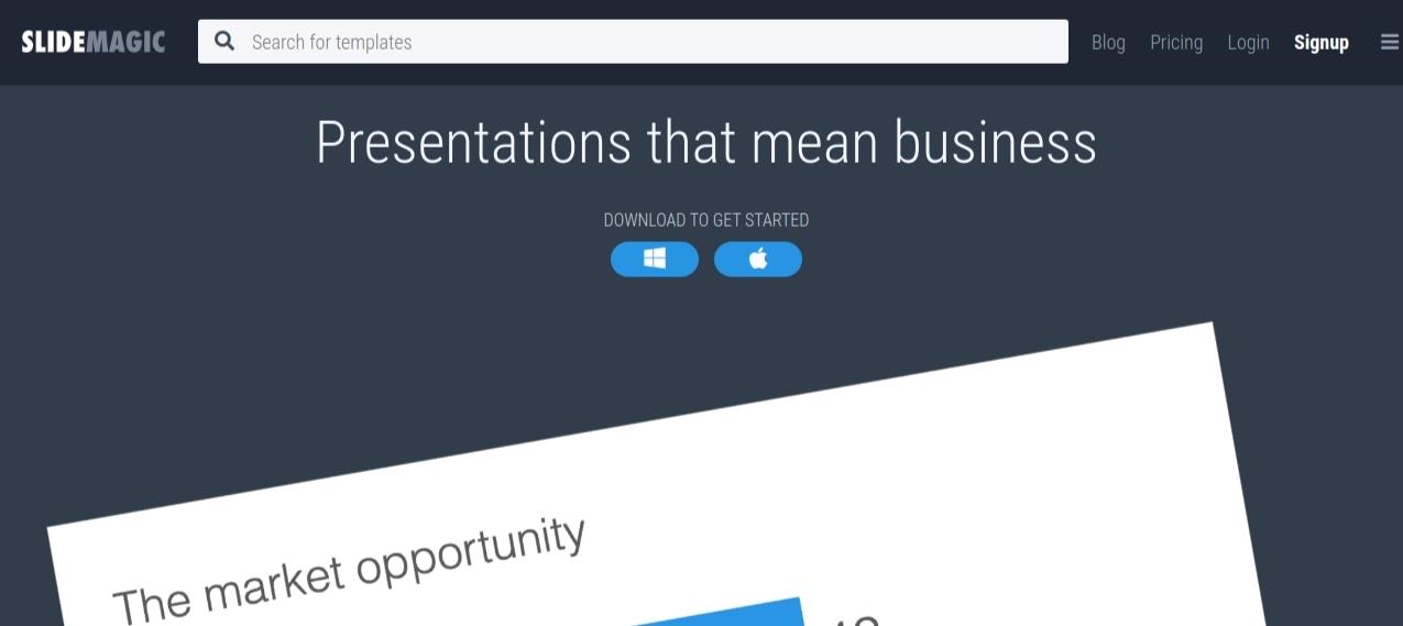 Slide magic: Presentation blog and website