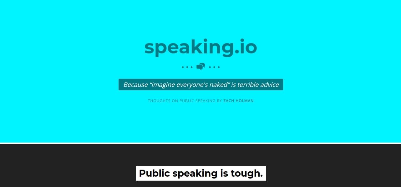 Speaking.io: Presentation blog and website