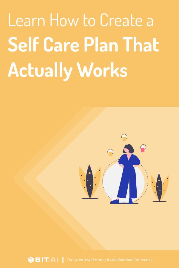 Self care plan - pinterest