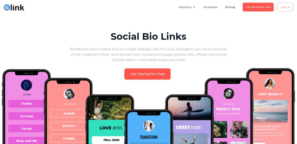 elink.io: Link in bio tool