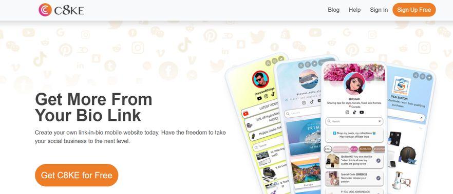 C8ke: Link in bio tool