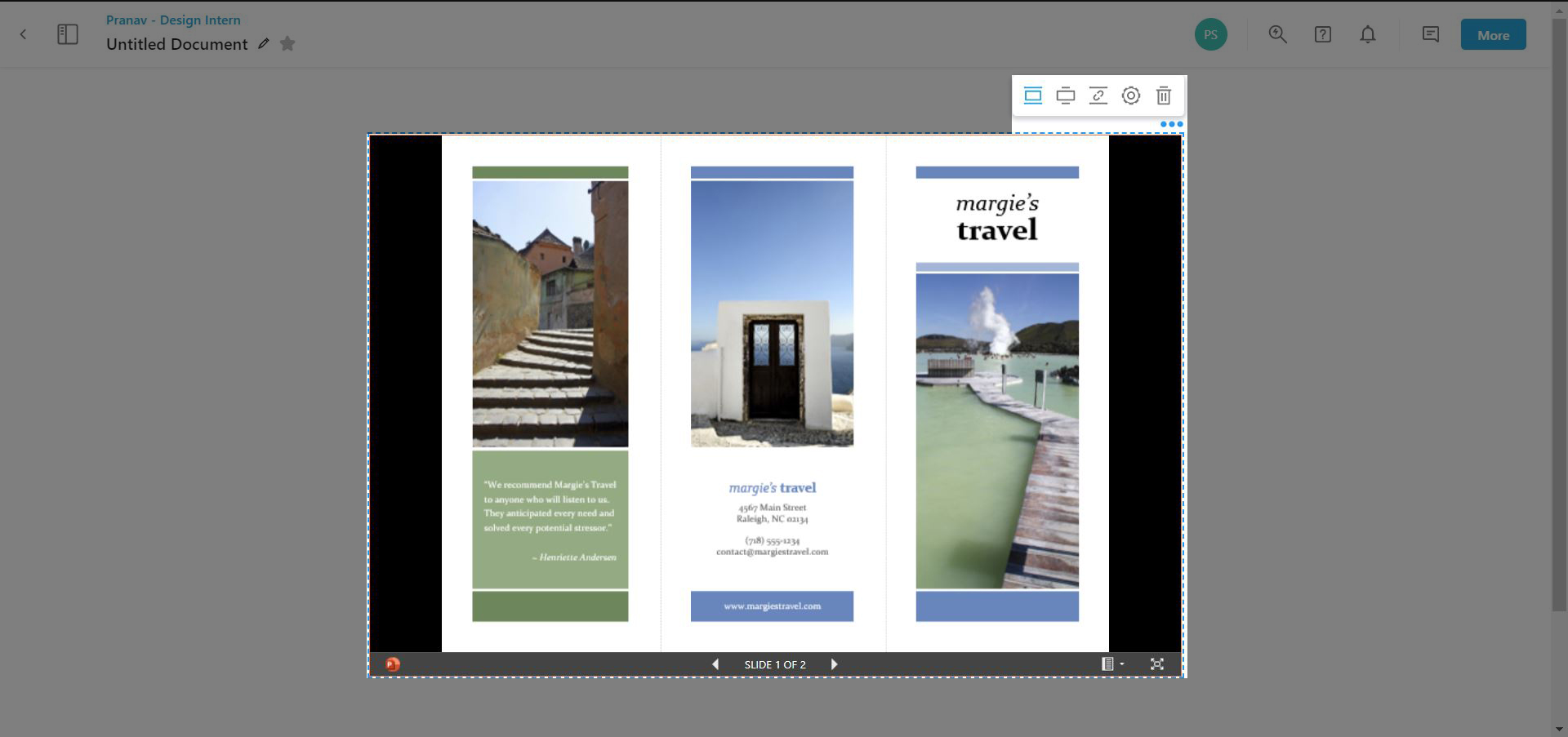review of customization options available for powerpoint embed