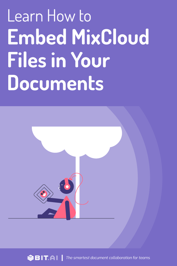 Embed mixcloud in documents - pinterest