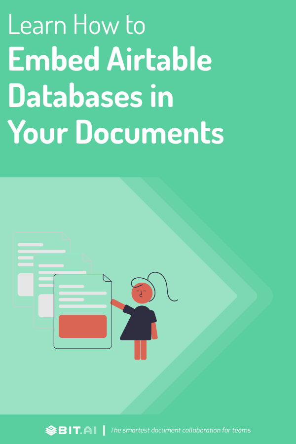 Embed airtable database in documents - Pinterest