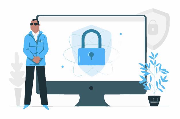A man maintaining anonimity online using vpn