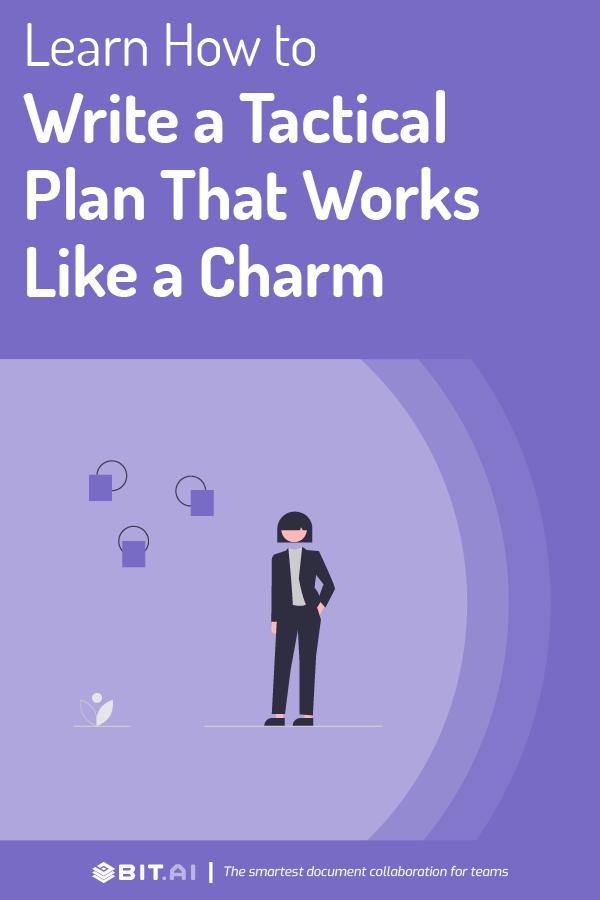 Tactical plan - Pinterest