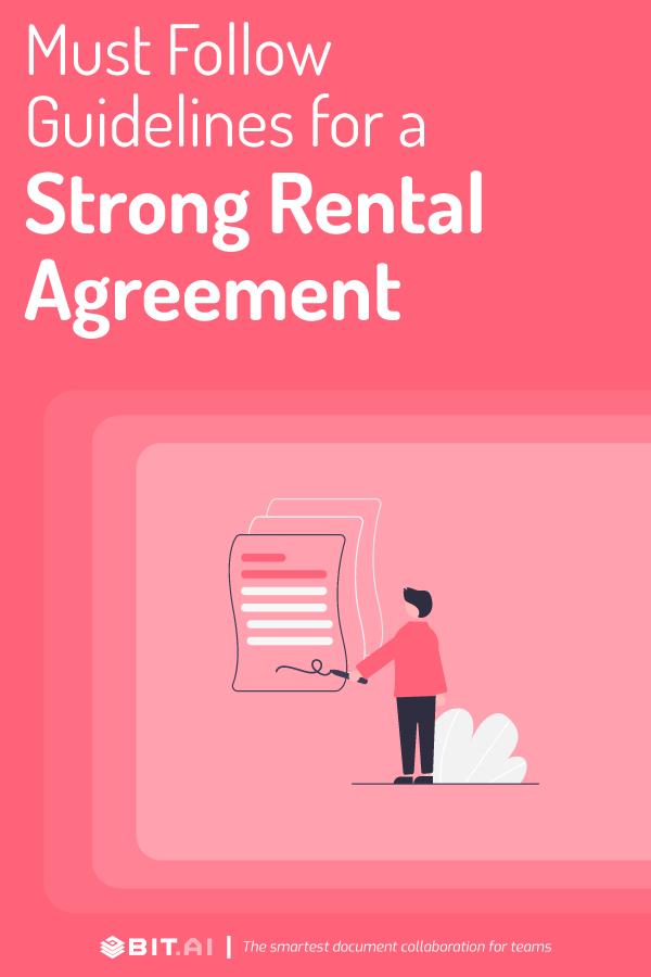 Rental agreement - pinterest