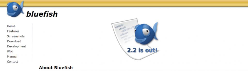 Bluefish: Text editor