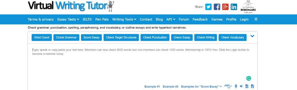 Virtual writing tutor: Grammarly Alternative and Competitor