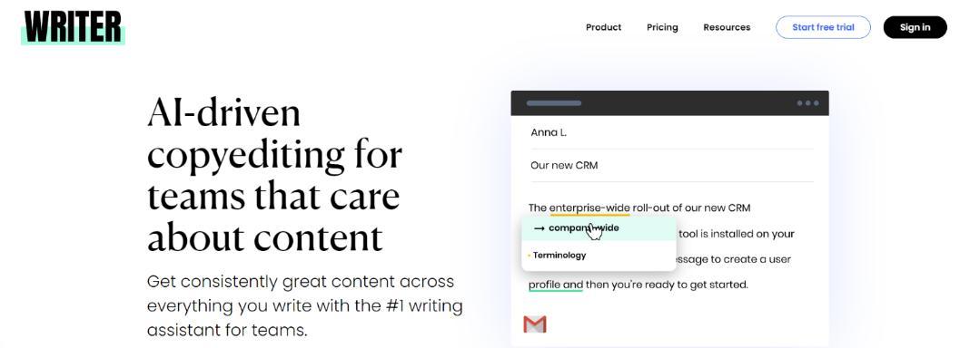 Writer.com: Grammarly Alternative and Competitor