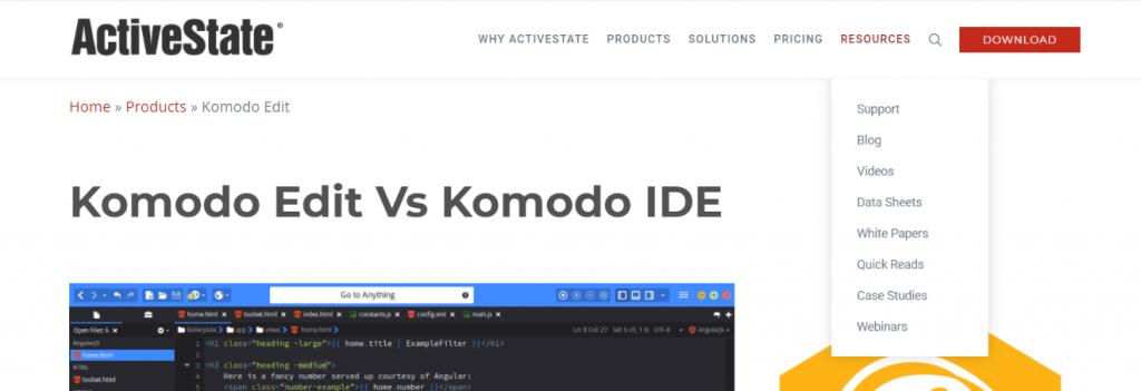 Kimodo edit: Text editor
